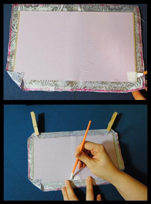 diy journal bookbinding glue corners sides