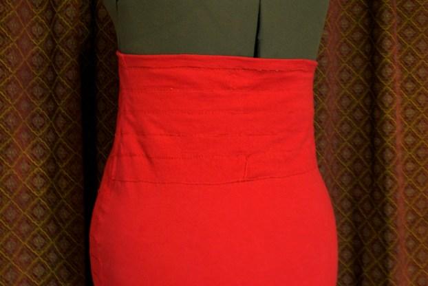 DIY Bandage Skirt back finished