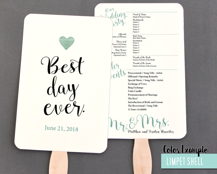 wedding program fan template - Onwebioinnovate