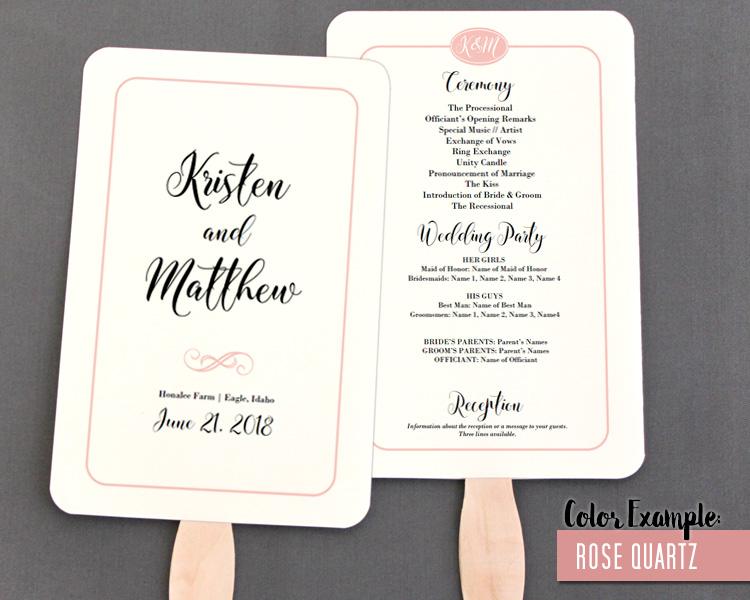 simple wedding programs - Selol-ink