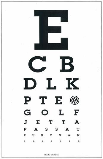 standard eye chart - Tolequiztrivia
