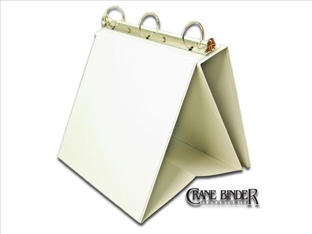 3 ring easel stand up binder display flip chart tabletop binder