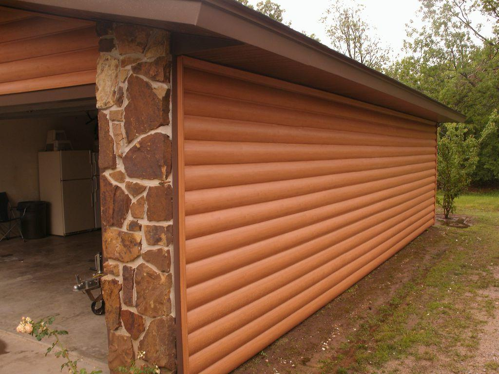 Make your log cabin awesome with log cabin siding for Log siding options