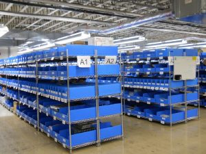 Industrial Shelving Systems with Bins