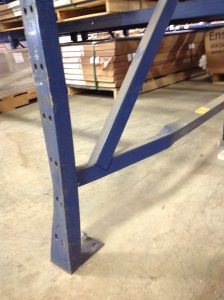 Curbell pallet rack damage before