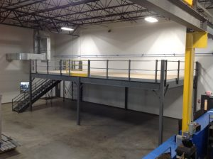 Storage Mezzanine in Manufacturing Area