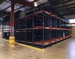 Flow-Thru Pallet Rack