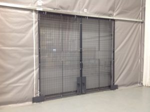 Package Door Safety Fence