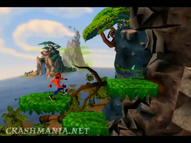 Fall Wallpaper For Facebook Crash Bandicoot Cliff Level Crash Mania