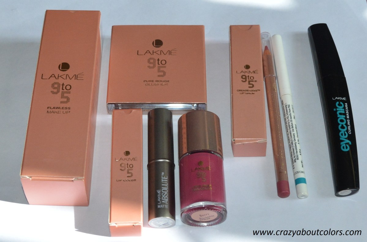 My experience with Lakme's 9 to 5 Range