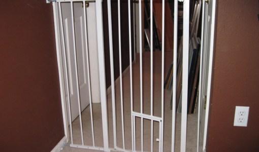 My hallway dog gate closed