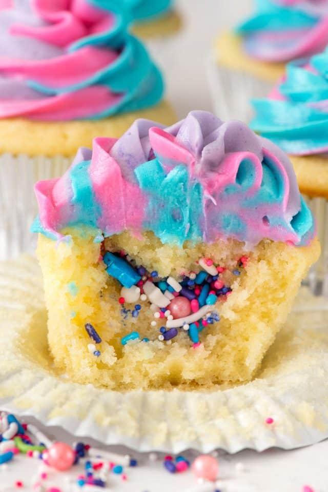Unicorn Cupcakes - Crazy for Crust