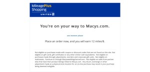 From United MilegePlus Shopping to Macys.com
