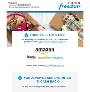 Chase Freedom Card Activiation