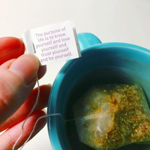 My tea always knows just what to say  yogisintraininghellip
