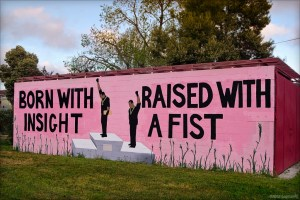 A mural I see and often wonder about.