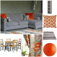 Grey and Orange: My Living Room Mood Board - Crazy With Twins