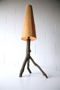 1960s Tree Branch Table Lamp | Cream and Chrome