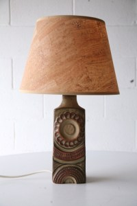 Ceramic Lamp Base by Louis Hudson | Cream and Chrome