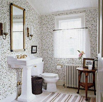 Wallpaper in the bathroom?