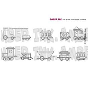 Amber Ink - It's A Train Set Stamp Set