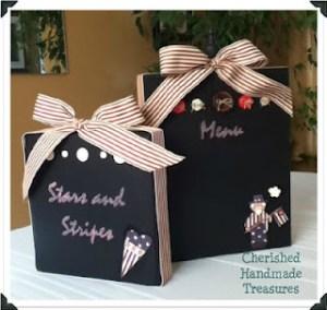 Cherished Handmade Treasures - Chalkboard Blocks