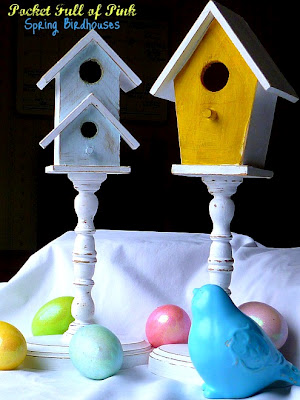 Karen at Pocket Full Of Pink - Spring Birdhouses Tutorial