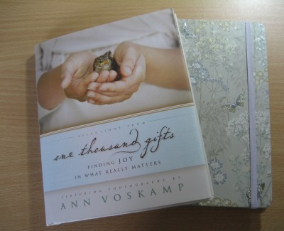 Selections From One Thousand Gifts & My New Journal