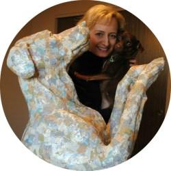 Mary C Nasser - Dog Sculpture