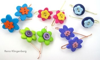 Rena - Flower Earring Tutorial