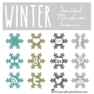 Christmas Social Media Icons