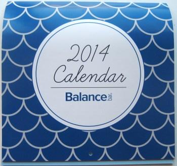 2014 Balance Calendar