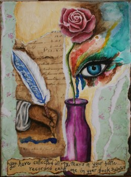 Tears In A Mixed Media Bottle