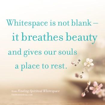 Whitespace breathes beauty