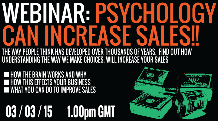 Webinar on how the brain and the way we make choices can alter your sales as a fashion brand