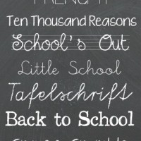 Back to School Fonts
