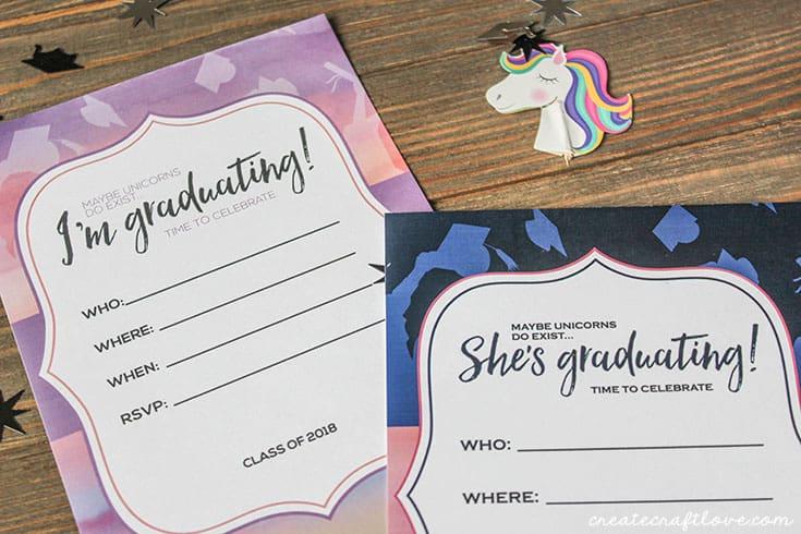 Customizable Graduation Invitations - Create Craft Love - invitations graduation