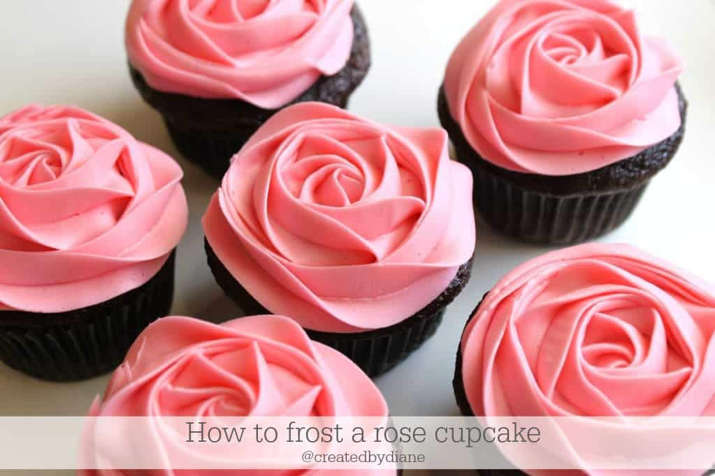 How to frost a rose on a cupcake, video Created by Diane