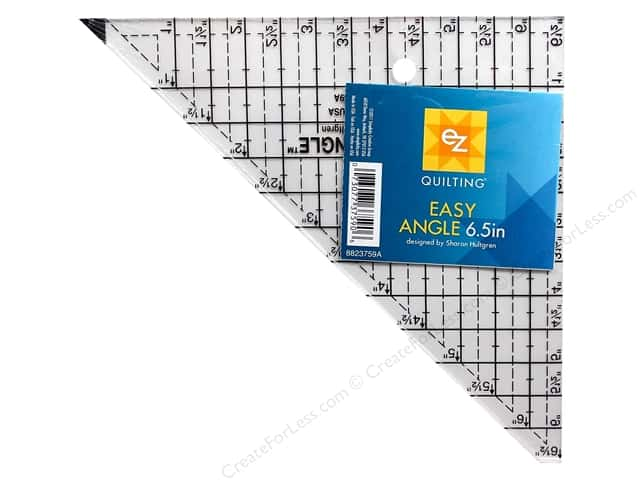EZ Quilting Easy Angle Acrylic Template 6 1/2 in -- CreateForLess