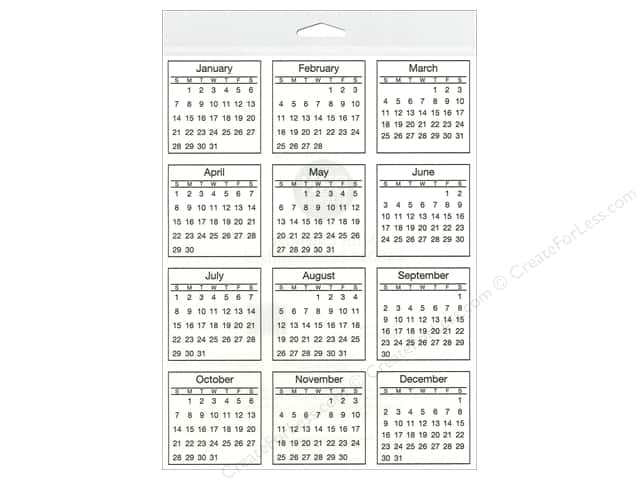 SRM Press Sticker Calendar Mini 2018 Standard -- CreateForLess