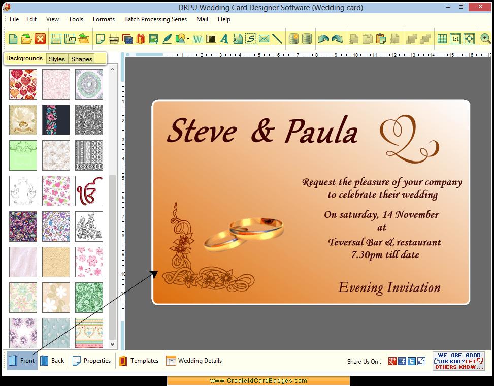 Wedding Invitation Card Design Software Free Download