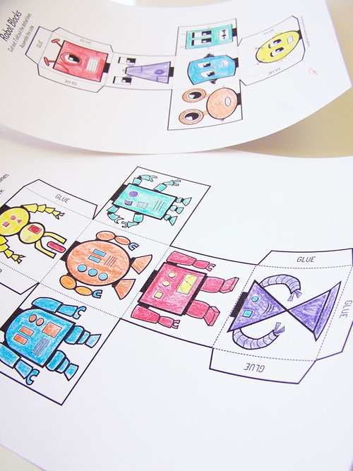 Printable Mix-n-Match Robot Blocks - Create in the Chaos