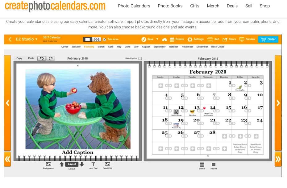 Instagram Calendars - Make a calendar from your Instagram photos - school calendar creator