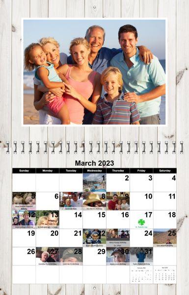 Create Wall Photo Calendars, Custom Wall Photo Calendars - create a picture calender