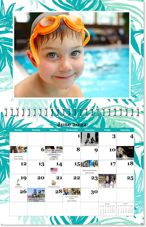 XL Photo Calendars, Custom XL Photo Calendars, Personalized XL Wall