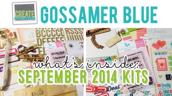 What\u0027s Inside VIDEO Gossamer Blue Scrapbook Kit - SEPTEMBER 2014