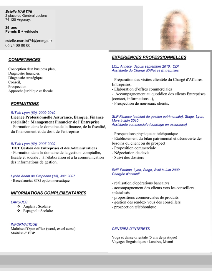 cv assistant recrutement