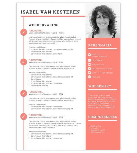 CV-template \u0027Isabel\u0027 Creatief CV - cv
