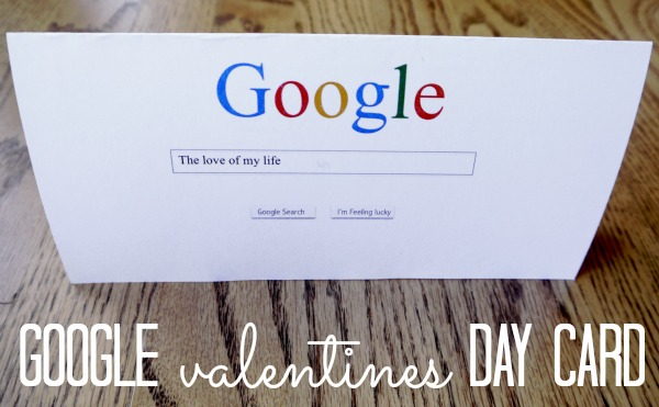 Google Valentine Card {+ free printable} - CRAFT - valentines cards words