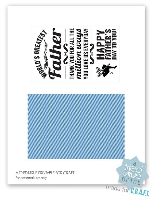 Printable fathers day cards - CRAFT